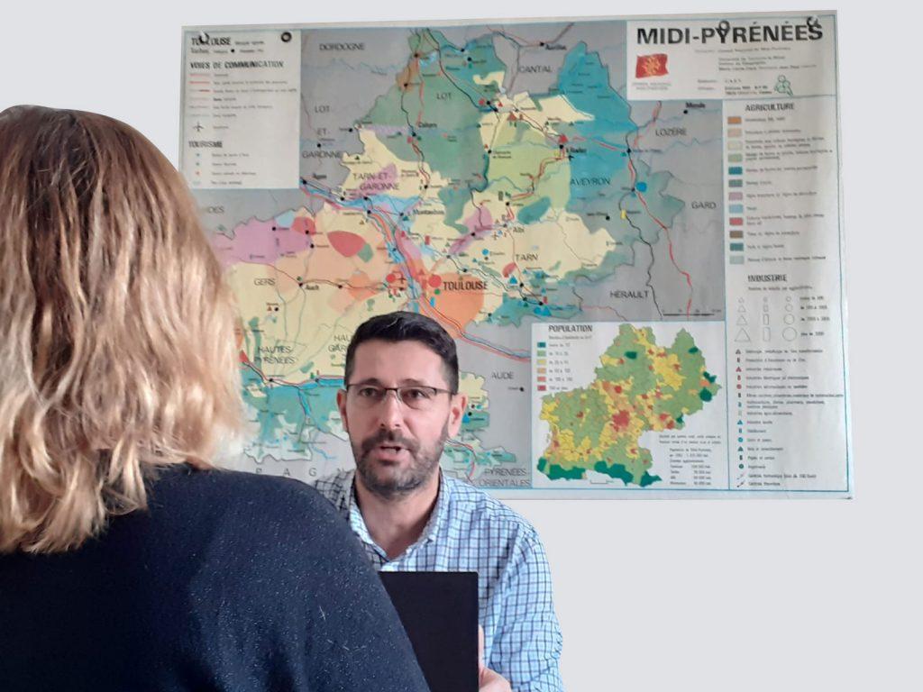 David Foissac, gérant de l'entreprise Agri Services 12 en Aveyron